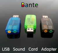 Factory wholesale External 3D 5.1 Sound Card USB 2.0 Audio Adapter Sound Card for PC