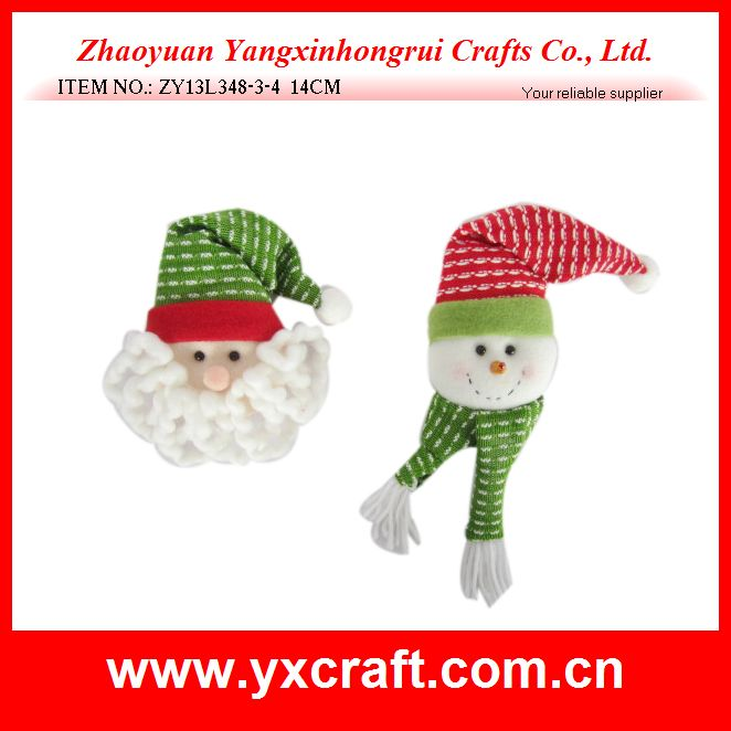 Christmas decoration (ZY13L348-3-4 14CM) santa claus, snowman head decoration
