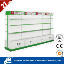 pharmacy shelving 35-40kg bearing mini mart shelving JB-316 with light box