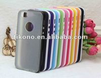 Latest Soft TPU bumper case + pc back case for iphone5