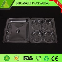 Vacuum forming plastic packaging PET food tray with divider