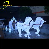 Led christmas cinderella horse carriage pumpkin carriage