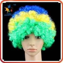 fashion passionate soccer party carnival fan wig