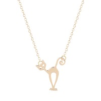 Cute Stray Cat Necklace Unique Pendant Collares Minimalist Jewelry Gift Necklace for Girls and Women necklace set