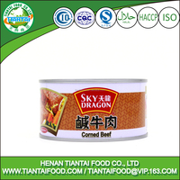 manufacture in china corned beef in tin cans, canned meat