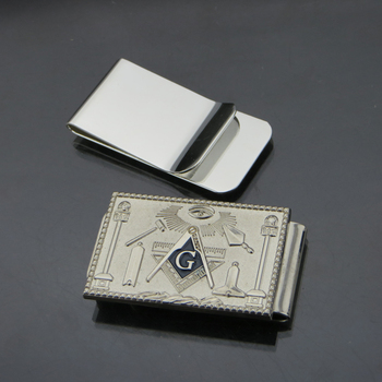 2015 New product metal money clip, silver money clip, masonic money clip