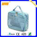 2015 high quality pvc beach cosmetic bag with handle