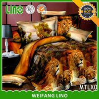 Canton Fair uk importer of bed sheet/spanish style bedding/lion king bedding set
