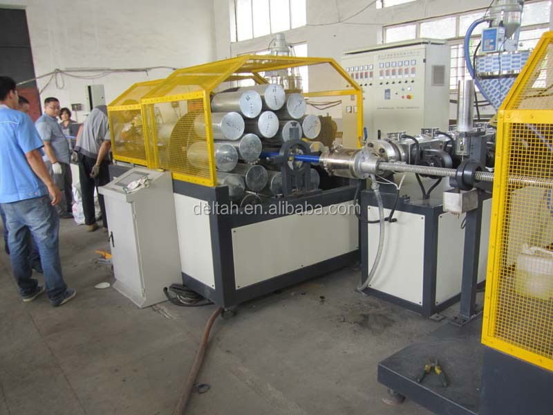Spiral and flexible soft hose pipe duct production line making machine