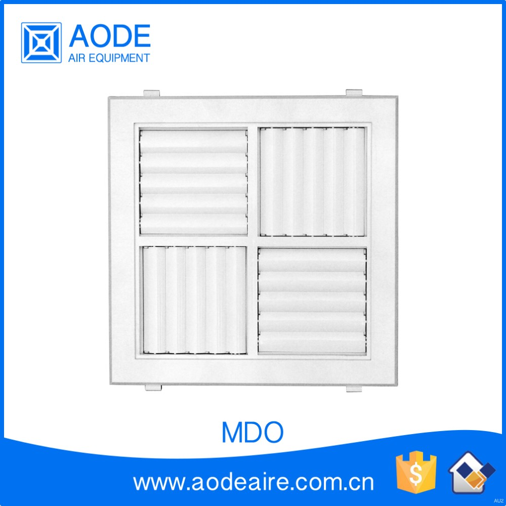 4 Way Multi Directional Plastic Ceiling Grilles