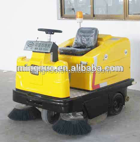 Mingnuo Ride On Battery Warehouse Pavement Wet Industrial Floor Sweeper
