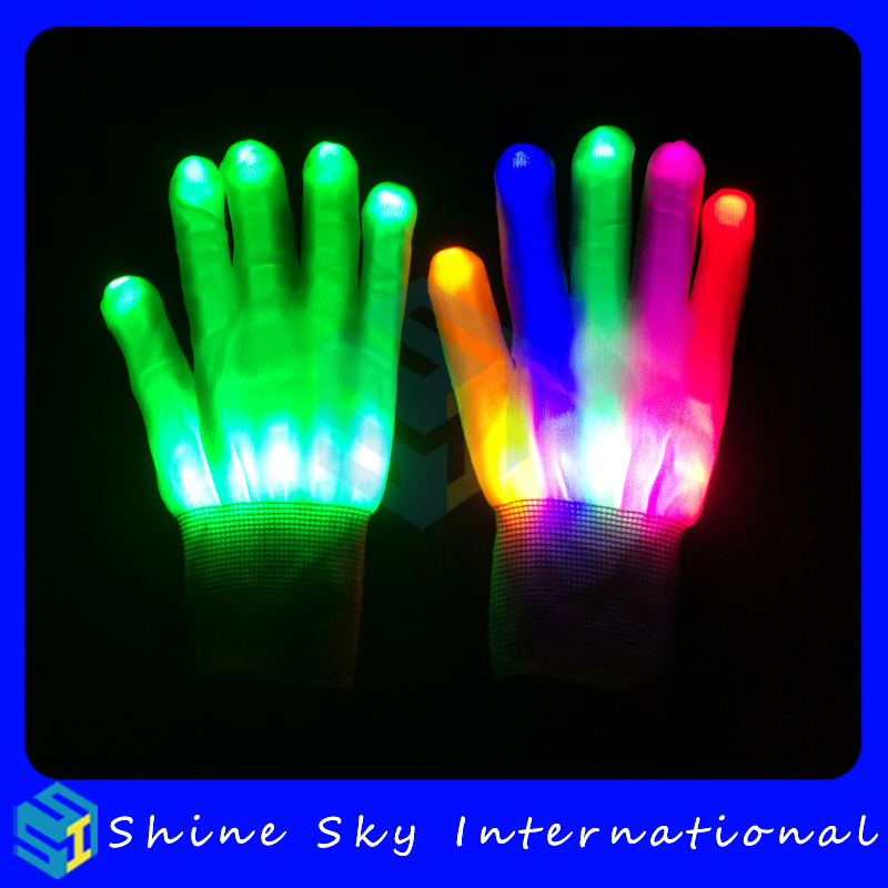 Best gifts to kids light glove for concert talent show,led gloves with remote control Halloween party led gloves