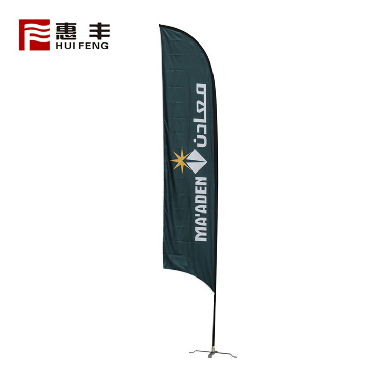 Promotion Normal Soft Advertising Teardrop Beach Flag
