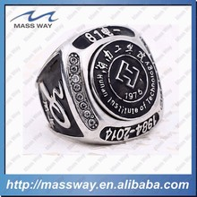 fashion jewelry 3D zinc alloy championship engraved mens big finger ring