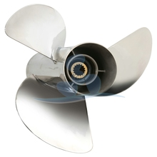"3 Blade Aluminum Propeller Marine Propeller Pitch 5"" Dia. 7-1/4"" for 2HP YAMAHA Outboard Engine"