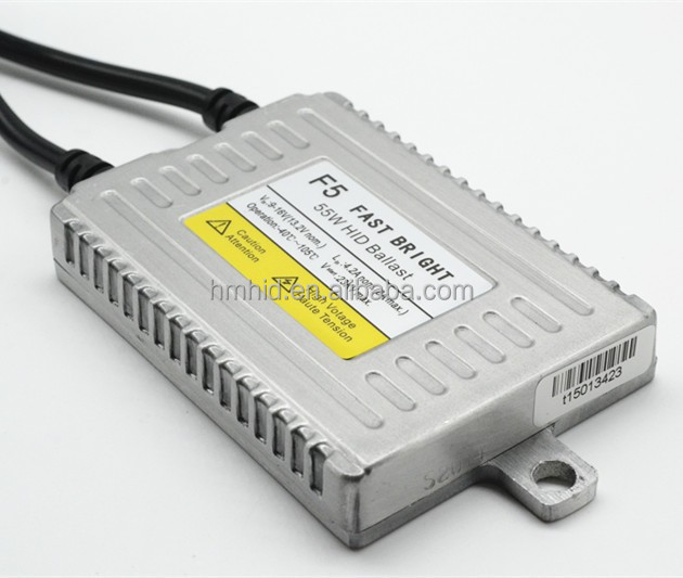 Factory direct slim f5 hid ballast fast bright in 0.1 second 55W f5 slim hid xenon ballast DLT fast start ballast F5