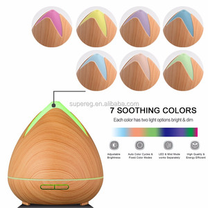 2018 Trending Products high quality 400ml Ultrasonic Electric Wooden Essential Oil Diffuser Home Fragrance Aroma Diffuser