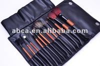 2014 hot sale 12pcs professional make up brush set synthetic hair goat hair pony hair