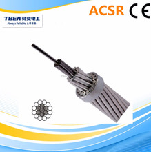 ACSR wolf conductor aluminum overhead bare cable with BS 215 standard