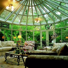European style aluminium curved glass lowes Sunrooms