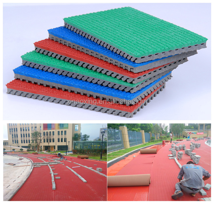 IAAF Approved Rubber Running Covering For 400 Meter Standard Track Field Stadium