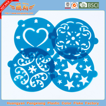 plastic cake cookie baking decorating stencil