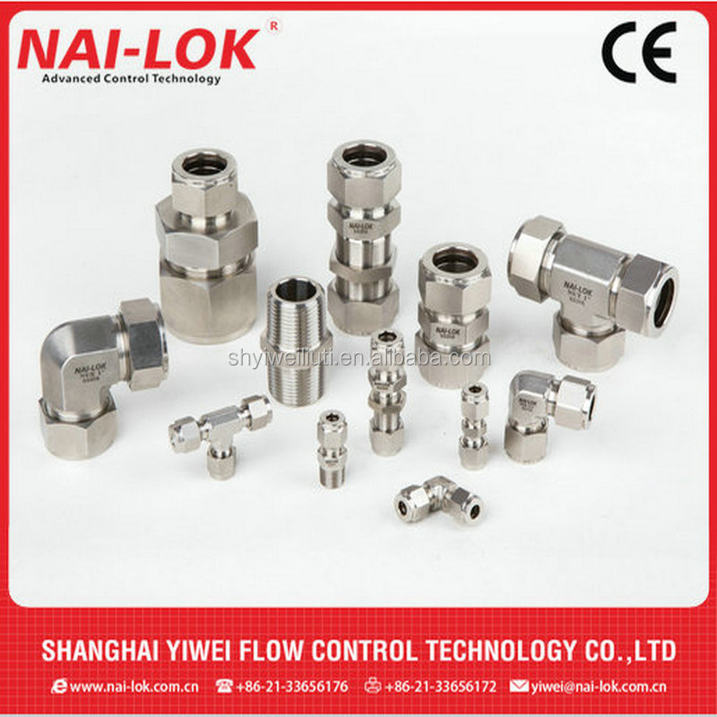 gas pipe compression fittings stainless steel ferrule fitting connection