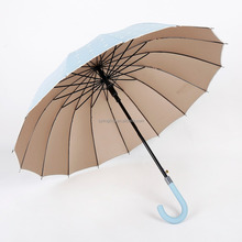 24K straight automatic open umbrella with dots and anchors printing