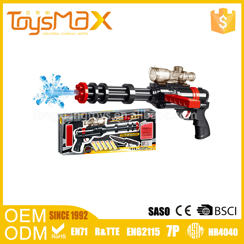 Newest outdoor golden and black crystal water soft bullet gun toy
