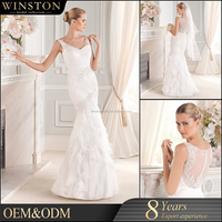 high-quality corset top tulle ball gown wedding dress