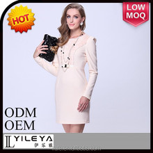 Fashion and high quality ladies slim long sleeve official dresses for women,ladies official dresses