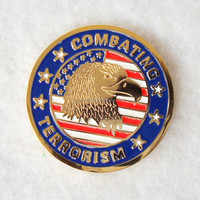 Soft enamel America Combating eagle custom coin