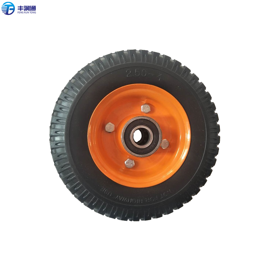 2.50-4 durable heavy duty Wheelbarrow PU Foam solid <strong>Wheel</strong> material handling equipment parts tire filling foam material handling
