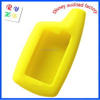 Promotional Gift Car Alarm Key Silicone Covers with Yellow Color for Car Alarm Key