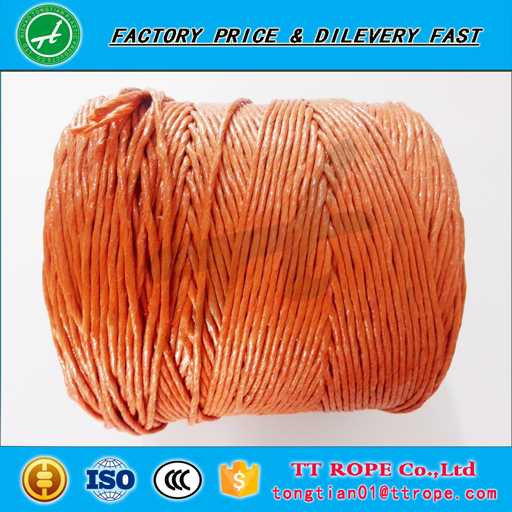 Plastic pink pp packing baler twine for agriculture