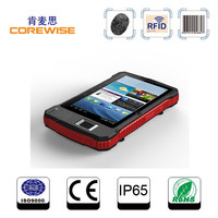 Cheapest price of touch screen handheld pda barcode scanner with wifi Andorid 4.4 fingerprint scanner rugged tablet PC GPS