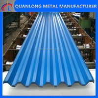 PVDF paint coating corrugated aluminum panels for roof and wall