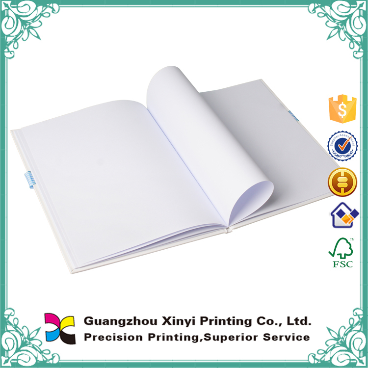 Custom design paper notebook /blank pages notebook/notebook with ribbon band