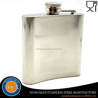 High quality stainless steel hip flask for liquor