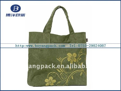 2011 latest hot sale canvas souvenir bag