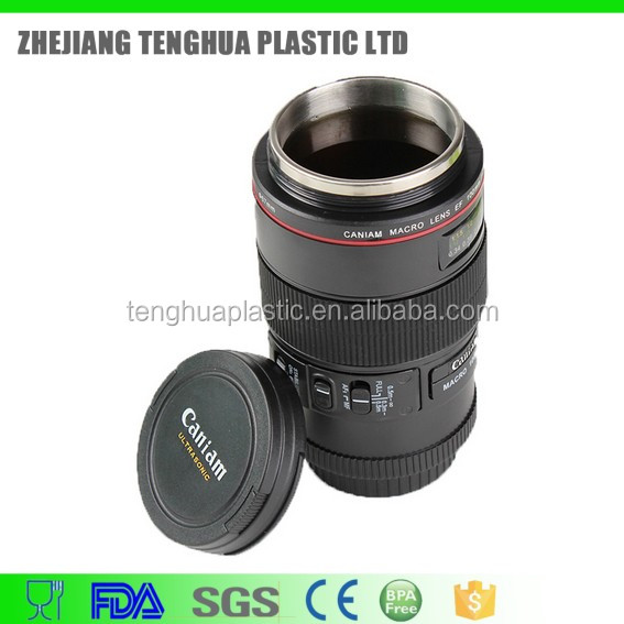 Hot Sale Product Stainless Steel Water Bottle, Camera Lens Cup, Promotional Gift Bottle