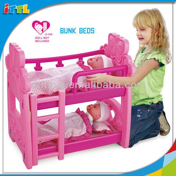 Как сделать 2х ярусную кровать для кукол монстр хай
