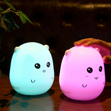 Colorful Night light with blue tooth speaker home smart touch warning baby care table led night light Hamster Type Night Light