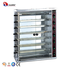 Gas Rotisserie with 6 Skewers Safety Valve and Thermocouple Capacity:30 Pieces Chicken