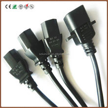 Electronic cable, C13 / C14 IEC power cord male female wire connector/C13 To C14 Power Extension Cable Shenzhen KUNCAN