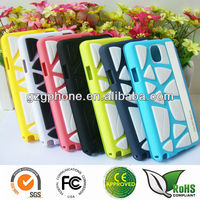 New arrival leather back cover case for galaxy note3 with silicone
