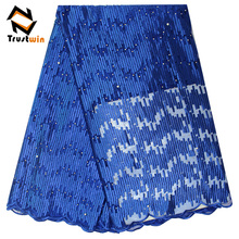 wholesale price trustwin african french types of lace fabrics with beads for garment