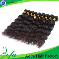 Black wavy types brazilian hair