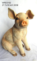resin funny pig animal figures decoration