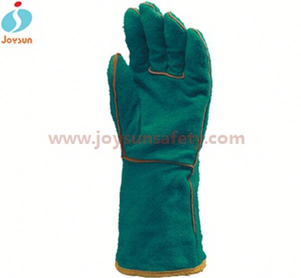 industrial leather safety glove for welding reinforced canadian rigger gloves